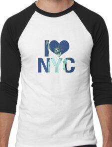 I love NYC Men's Baseball ¾ T-Shirt