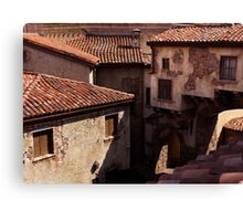 Old Venetian houses antique architecture art photo print Canvas Print