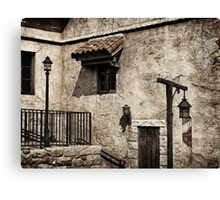Old rustic house grungy wall and window art photo print Canvas Print