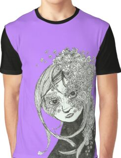 Flowerly Black and White Graphic T-Shirt
