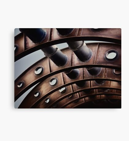 Abstract rustic pipes art photo print Canvas Print