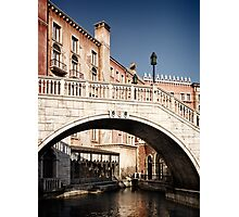 Bridge over canal Venetian architecture details art photo print Photographic Print