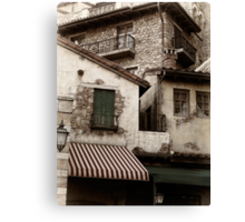Old rustic Venetian houses architecture detail art photo print Canvas Print