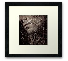 Closeup of mans chin with stubble art photo print Framed Print