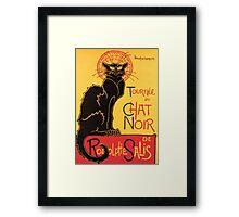Le Chat Noir Vintage Poster Framed Print