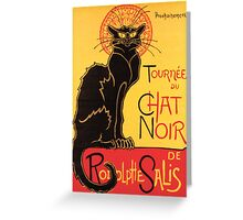 Le Chat Noir Vintage Poster Greeting Card
