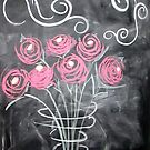 Fleeting Flowers - Roses in Chalk Paint by Pixie-Atelier