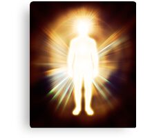 Man luminous ethereal body Qi energy art photo print Canvas Print