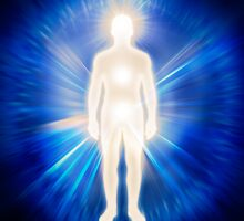 Man ethereal body energy emanations concept art photo print by ArtNudePhotos