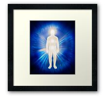 Man ethereal body energy emanations concept art photo print Framed Print
