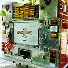 Back Of Fire Truck Closeup by Susan Savad