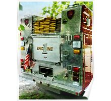Back Of Fire Truck Closeup Poster