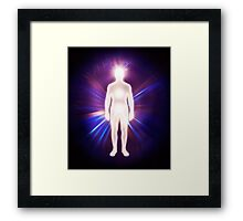 Man ethereal body energy astral body art photo print Framed Print