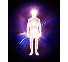 Man ethereal body energy astral body art photo print Photographic Print