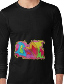 BAMF graffiti style Long Sleeve T-Shirt