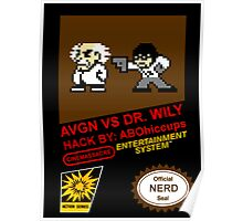 AVGN VS Dr. Wily NES Box Art Poster