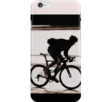 Cyclist silhouette iPhone Case/Skin