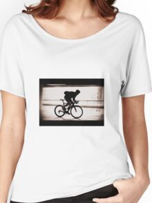 Cyclist silhouette Women's Relaxed Fit T-Shirt