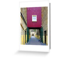 Lane way, and Bicycle Greeting Card