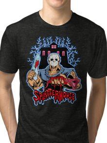 House of Splatter (Blue Edition) Tri-blend T-Shirt