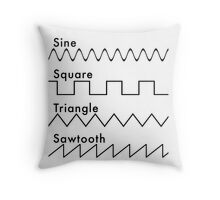 Types of Sounds Waves Throw Pillow