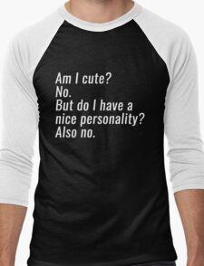 am i cute Men's Baseball ¾ T-Shirt