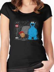 My neighbor cookie monster Women's Fitted Scoop T-Shirt