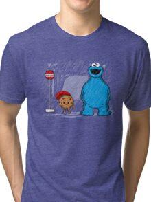 My neighbor cookie monster Tri-blend T-Shirt