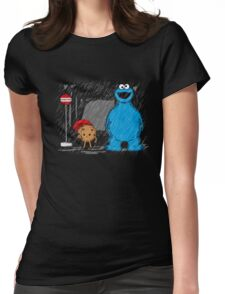 My neighbor cookie monster Womens Fitted T-Shirt
