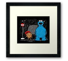 My neighbor cookie monster Framed Print
