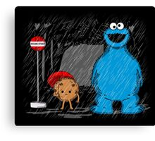 My neighbor cookie monster Canvas Print
