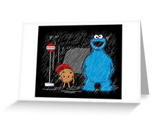 My neighbor cookie monster Greeting Card