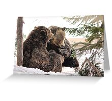 Grizzly Play Greeting Card