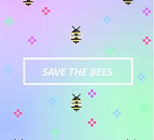 8-Bit Save The Bees by DinoArt