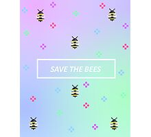 8-Bit Save The Bees Photographic Print
