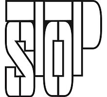 Cool Stop Text Logo by Style-O-Mat