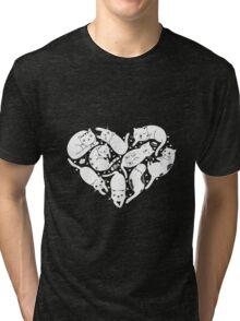 CatHeart Tri-blend T-Shirt