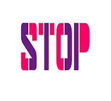 Cool Stop Logo Design Photographic Print