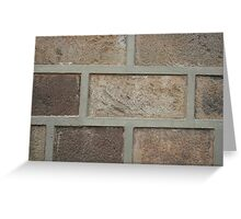 Brick Facade Greeting Card
