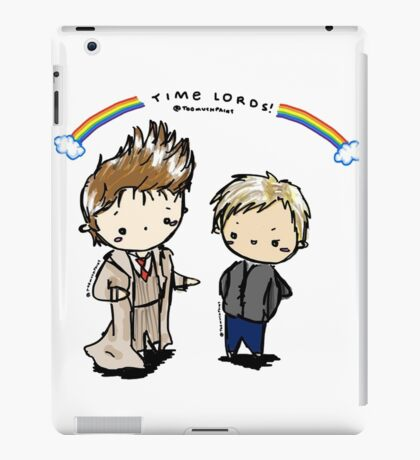 doctor and master time lords iPad Case/Skin