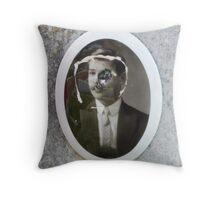 Gravestone Photo Throw Pillow Throw Pillow