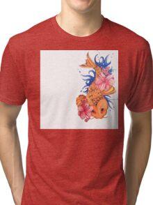 Colorful Koi Tri-blend T-Shirt