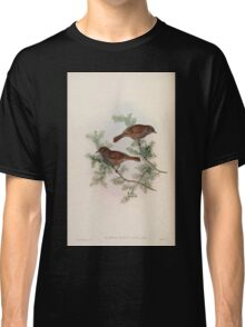 Birds of Asia John Gould 1883 V1 V7 270 Accentor Rubidus Classic T-Shirt