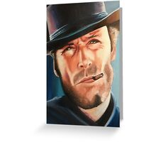 Portrait painting of Clint Eastwood Greeting Card