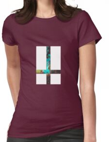 Green Galaxy Inverted Cross White Womens Fitted T-Shirt