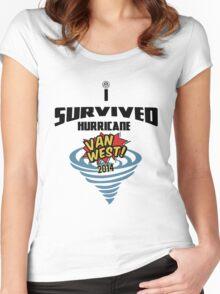 I Survived Hurricane Van West 2014 - Dubfotos Design Women's Fitted Scoop T-Shirt
