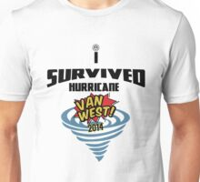 I Survived Hurricane Van West 2014 - Dubfotos Design Unisex T-Shirt