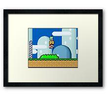 Mario Bros. 1Up Apple Framed Print