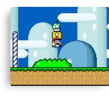 Mario Bros. 1Up Apple Canvas Print