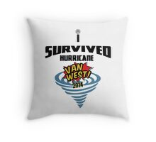 I Survived Hurricane Van West 2014 - Dubfotos Design Throw Pillow